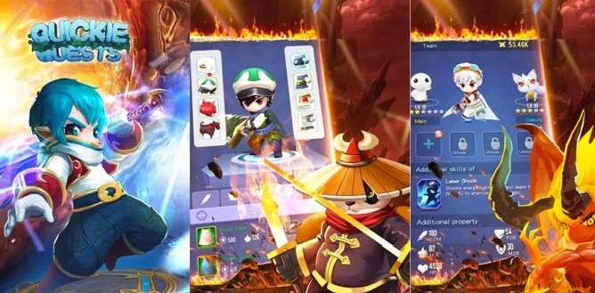 Quickie Quests Triche Astuces 2021 Or, Cristaux, Android et iOS