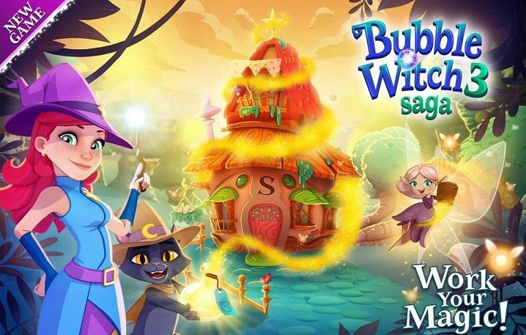 Bubble Witch 3 Saga Triche et Astuces 999999 or Bars