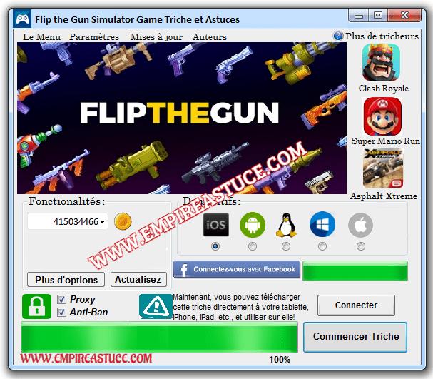 Flip the Gun Simulator Game Triche et Astuces Mod 2020