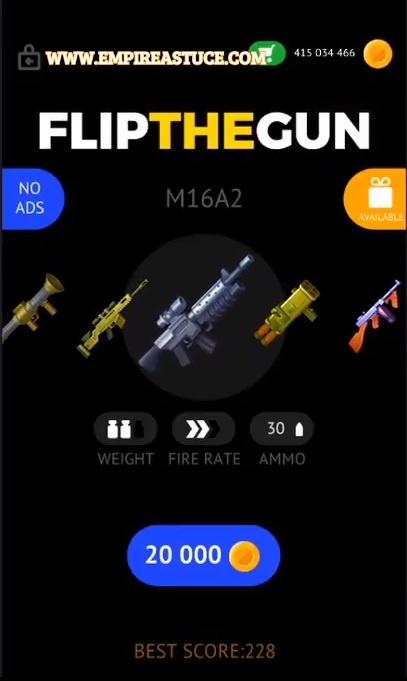 Flip the Gun Simulator Game Triche et Astuces Mod 21