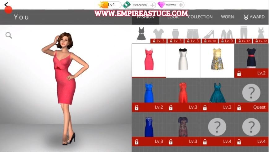 Fashion Empire Triche et Astuces 2020 Argent et Gemmes