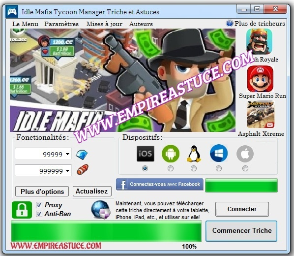 Idle Mafia Tycoon Manager Triche et Astuces 2020